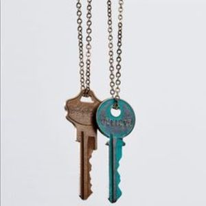 Patina 'Dreams' Key Pendent Necklace   NWT